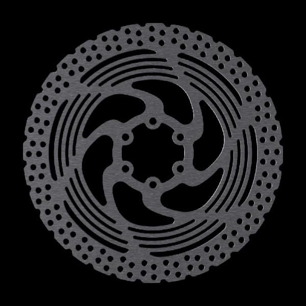 Bremsscheibe im Alagos Design, 6-Loch, Kühlrippen für Wärmetransport