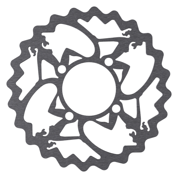 Disc Rotor in Pin-Up Design for Rohloff Hubs, 4-Hole, Magura compatible