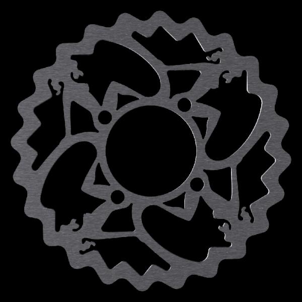 Bremsscheibe für Rohloff im Pin-Up Design, 4-Loch, Magura kompatibel