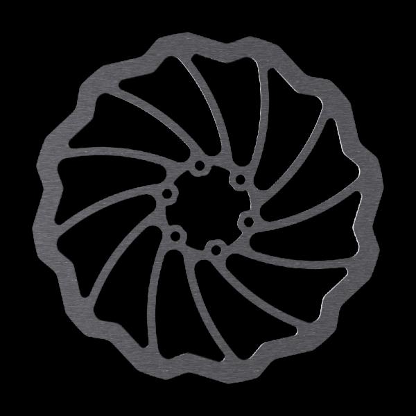 Disc Rotor in Wave Design 6-Bolt Magura Marta SL compatible