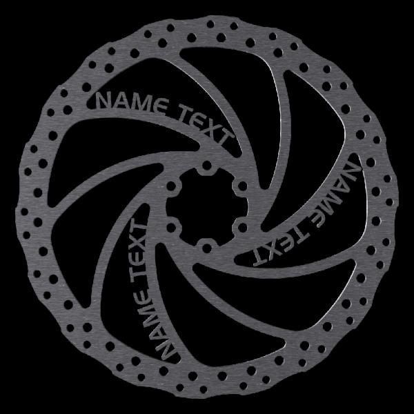 Individuelle Bremsscheibe mit Name / Logo / Wunschtext, 180-203mm