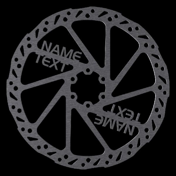 Individuelle personalisierte Bremsscheibe mit Wunschtext, weltweit einzigartig