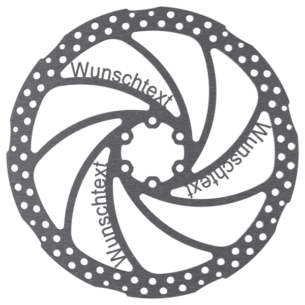 Individuelle MTB Bremsscheibe mit Name / Logo / Wunschtext