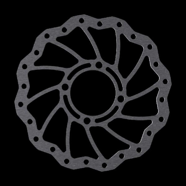 Bremsscheiben für Rohloff im Wave Design, glasperlengestrahlt